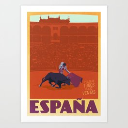 España - Spanish Bullfighting Classic Travel Poster Kunstdrucke