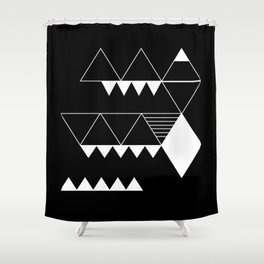 Moonokrom no 4 Shower Curtain