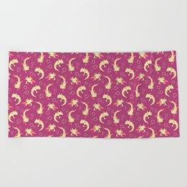 Relaxolotl - Rose Pink Beach Towel