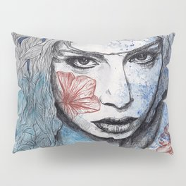 No Hope In Sight (tattoo girl with flowers) Pillow Sham