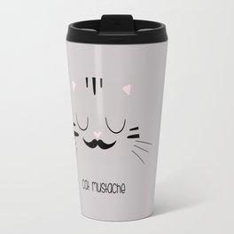 cat mustache Travel Mug