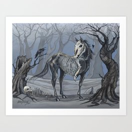 Helhest Three Legged Horse Art Print