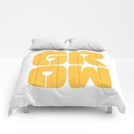 Grow Typography Comforters