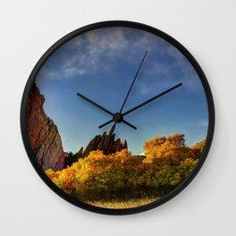 Red Rocks Panorama Wall Clock