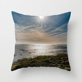 Sunstar Ano Nuevo State Reserve California Coast Throw Pillow