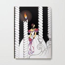 """La Traviata"" Art Deco Illustration by Erté Metal Print"