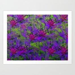Cornflower Jungle Art Print