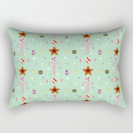 Candy cane pattern 3 Rectangular Pillow