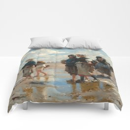 Setting Out to Fish Oil Painting by John Singer Sargent Comforters