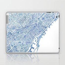 Barcelona Blueprint Watercolor City Map Laptop & iPad Skin