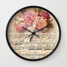 Vintage Music #2 Wall Clock
