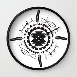 Native Amrican STEM Mandala Southwestern Wall Clock