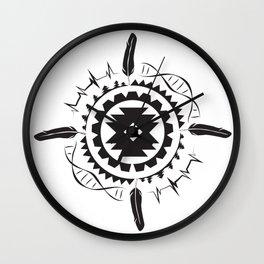 Native Amrican STEM Mandala Southwestern Wall Clock