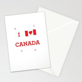 I heart Canada Stationery Cards