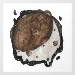 Moon and Cookies Art Print