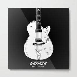 Gretsch White Penguin-Electric Guitar-Music-Rock,Blues,Jaazz,Rockabilly Metal Print