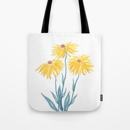 three yellow flowers Tote Bag
