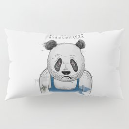 Sleepless Panda Bear Pillow Sham