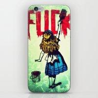 writing iPhone & iPod Skins featuring Writing Fuck by Mauricio Santana
