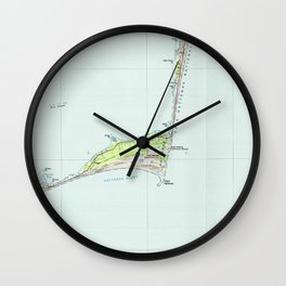 Cape Hatteras National Seashore Map (1985) Wall Clock