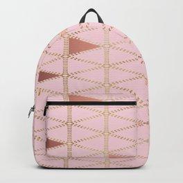 Hint of Rose Gold-Pattern Design Backpack