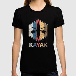 Retro Kayak Water Sports Sailboat Kayaker  T-shirt