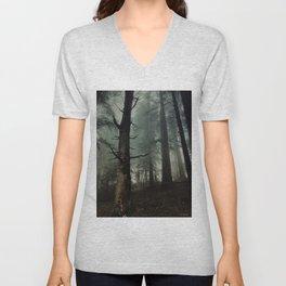 misty forest Unisex V-Neck