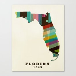 Florida state map modern Canvas Print