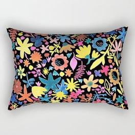 Autumm´s flowers and black Rectangular Pillow