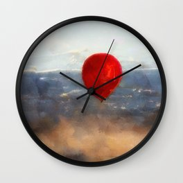 Red Balloon, Germany Wall Clock