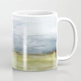 Horizon Field / Contemporary Abstract Landscape Watercolor Coffee Mug