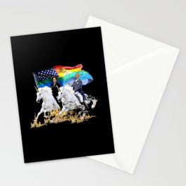 Preposterous Presidents - Barack and Michelle Obama - Unicorn Pride Stationery Cards