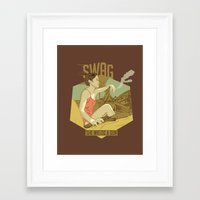 swag Framed Art Prints featuring SWAG by RJ Artworks