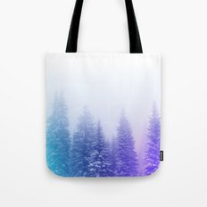 Blue and Purple Pines Tote Bag