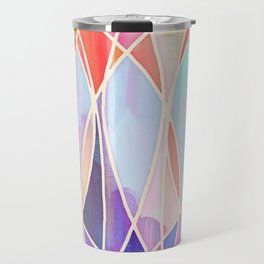 Purple & Peach Love - abstract painting in rainbow pastels Travel Mug