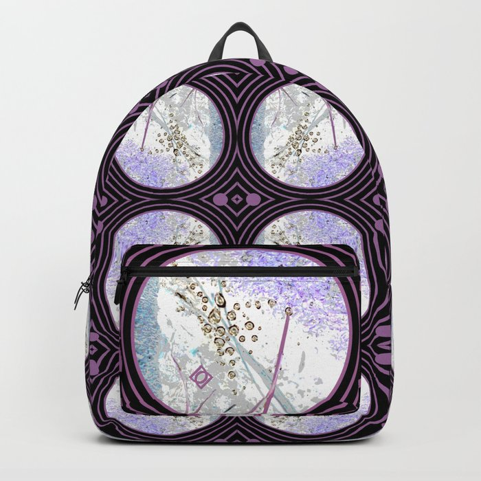 Nature Portals in Periwinkle, Rose & Black Backpack