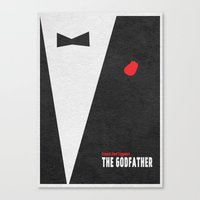 the godfather Canvas Prints featuring The Godfather by A Deniz Akerman