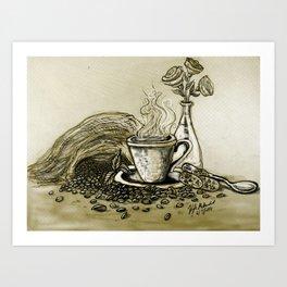 CoffeeCoffee Art Print