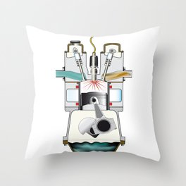 Ignition Stroke Throw Pillow