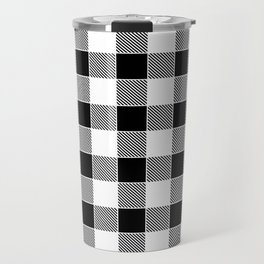 Buffalo Check - black / white Travel Mug