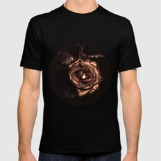 (he called me) the Wild rose Mens Fitted Tee Black MEDIUM