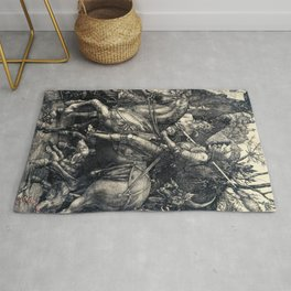 Albrecht Durer Knight Death And Devil Rug