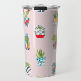 Funny cacti illustration Travel Mug