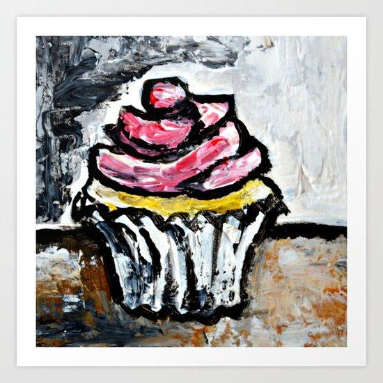 Sweet Treats Still Life: Cupcake Art Print