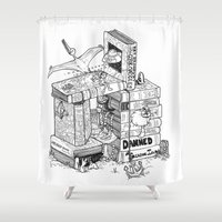 conan Shower Curtains featuring Worlds within Worlds by KadetKat