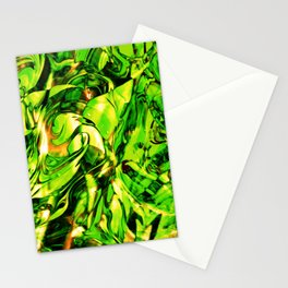 Fluid Painting 3 (Green Version) Stationery Cards