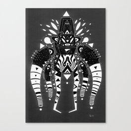 techno ghost Canvas Print