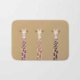 Triple Giraffes Bath Mat
