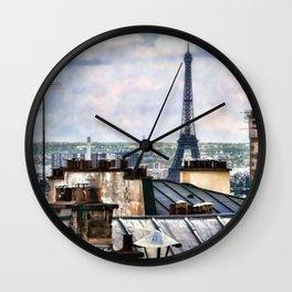 Montmartre Rooftop Wall Clock