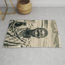 4300 Portrait of Young Maasai Tanzania East Africa Rug